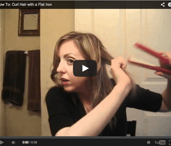 How To: Curl Hair with a Flat Iron