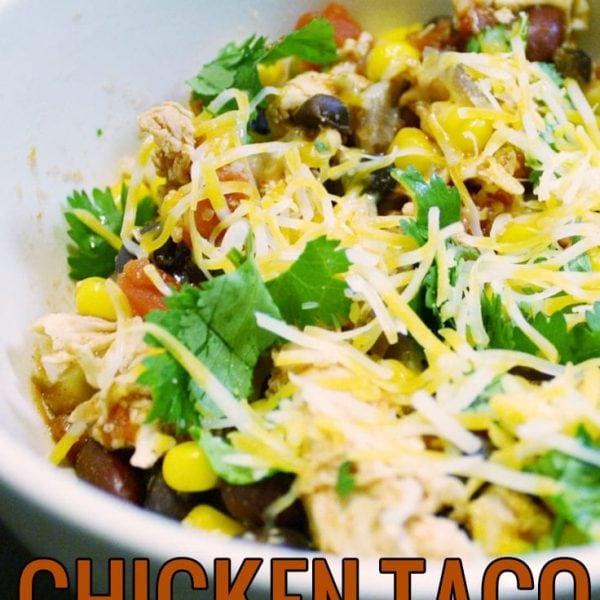 Healthy Crock Pot Chicken Taco Chili
