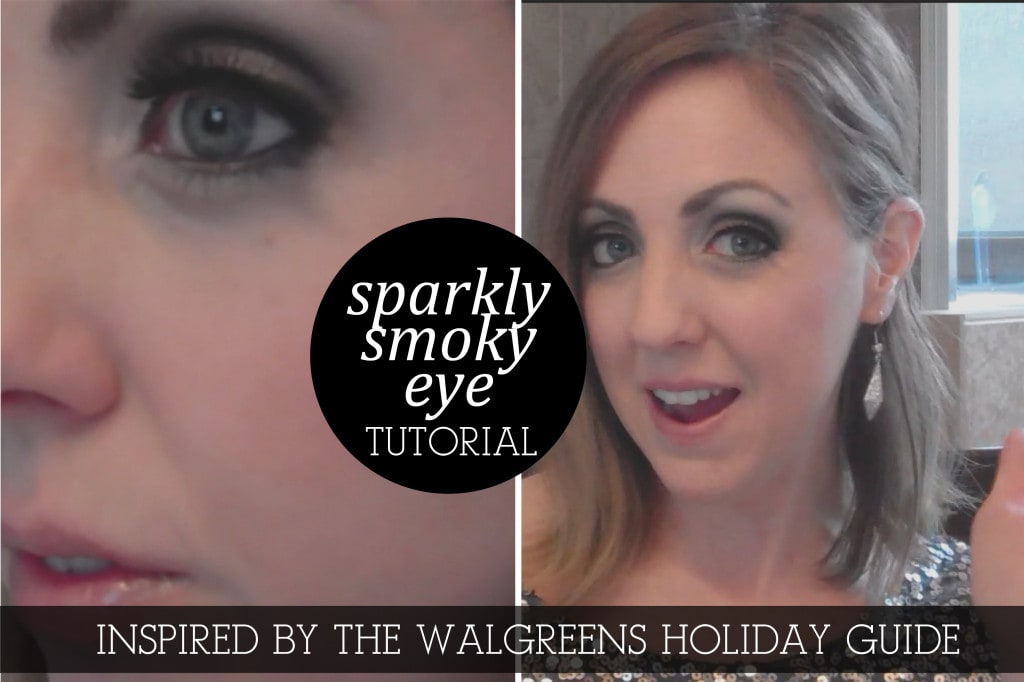 Sparkly Smoky Eye Inspired by the Walgreens Holiday Guide #HappyAllTheWay #shop #cbias