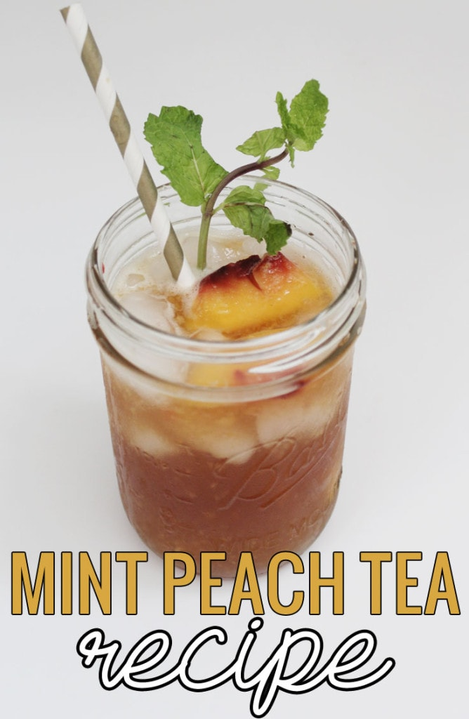 Mint Peach Tea Recipe #TrendTea