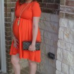 Third Trimester Maternity Style – Dressed in Orange