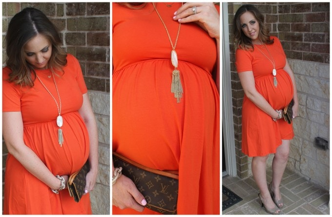 Asos Orange Maternity Dress