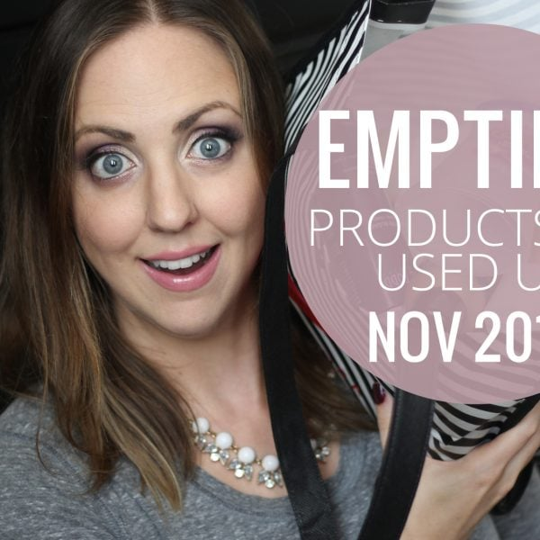 Empties – Products I've Used Up! (Nov 2014)