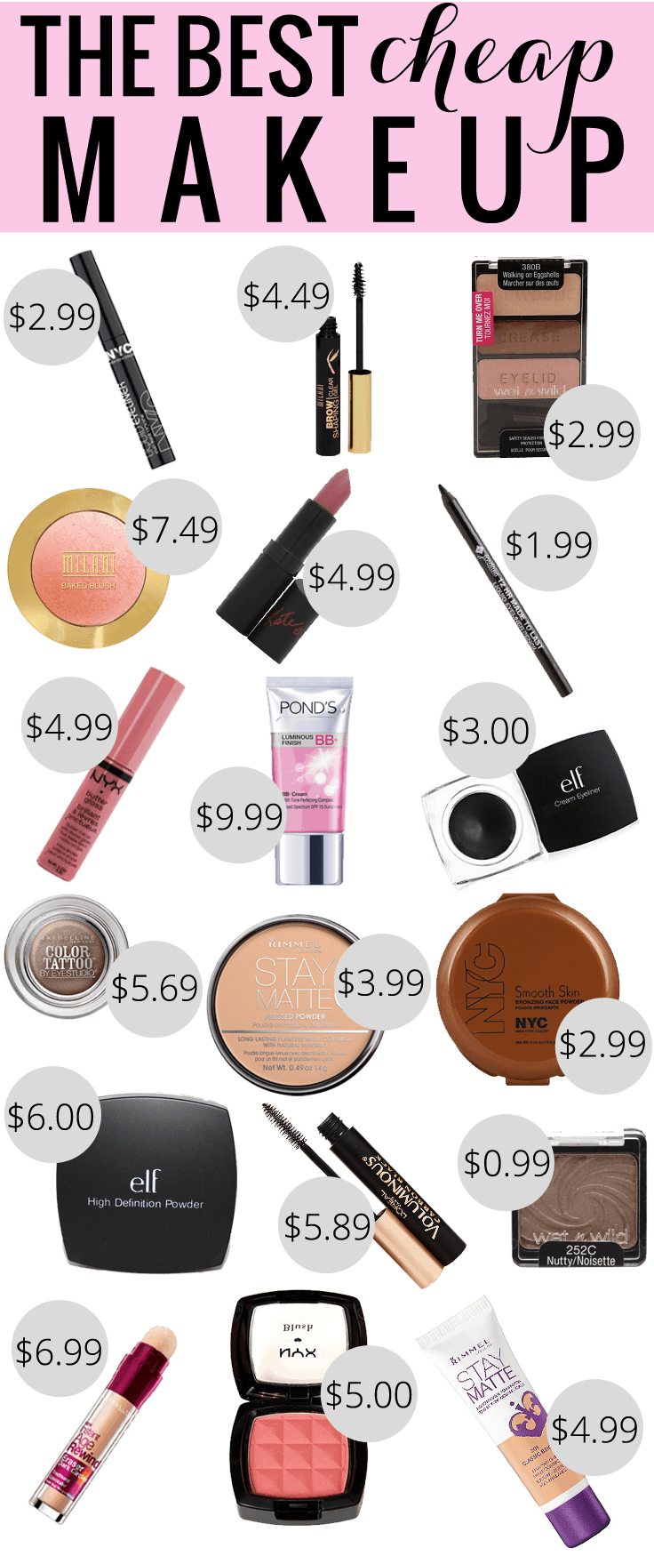 The Best Cheap Makeup Beauty Meg O