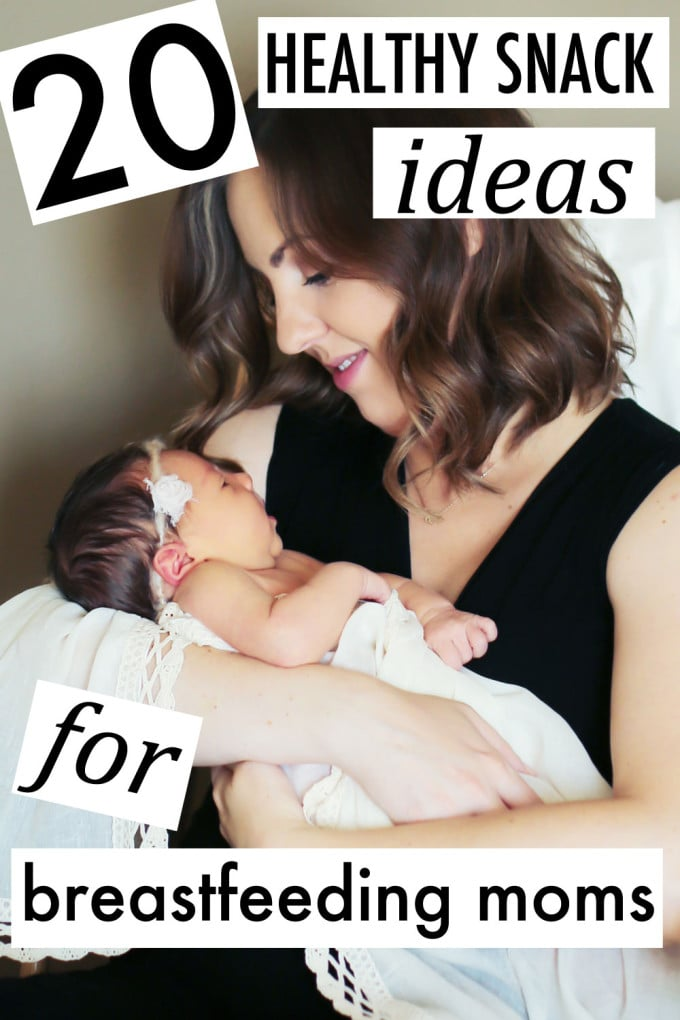 20 Healthy Snacks for Breastfeeding Moms by lifestyle blogger Meg O. on the Go