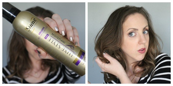 Use a volumizing mousse to scrunch and reactivate texture