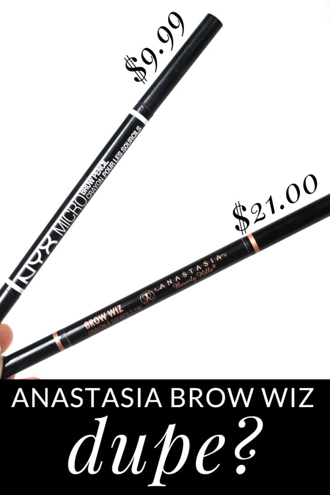 Houston Beauty blogger Meg O. on the Go asks if this $9.99 drugstore brow pencil is an Anastasia Brow Wiz dupe? You'll be surprised!