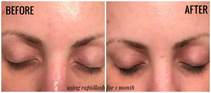 RapidLash Before and After - only one month of using it!