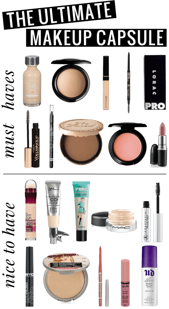 Houston Beauty blogger Meg O. on the Go shares the ultimate minimalist makeup bag with a fantastic 20 product capsule makeup kit! Great for beginners, read more!