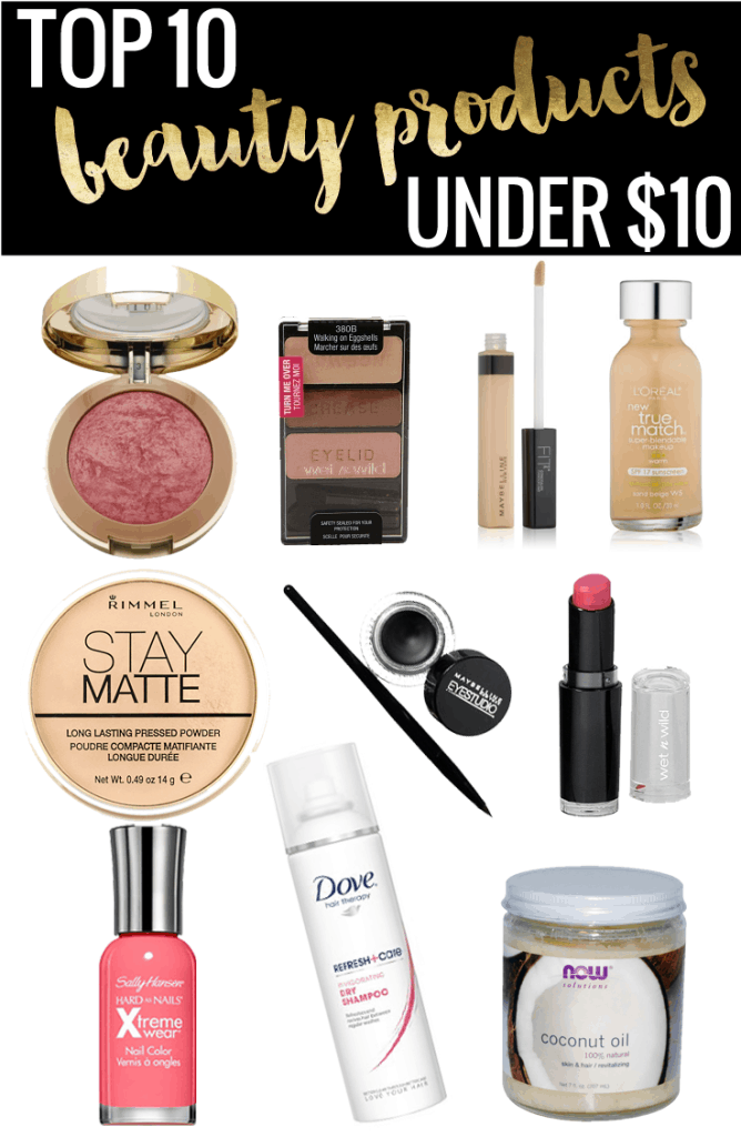 Popular Houston Beauty Blogger Meg O on the Go shares the top 10 beauty products under $10! Makeup, hair, and nails! Read more now!