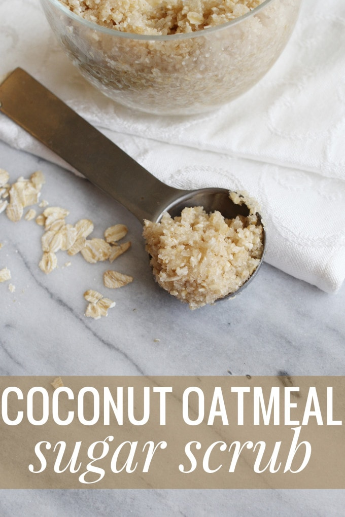 DIY Coconut Oatmeal Sugar Scrub