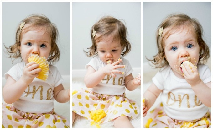 Caroline's First Birthday Photo Shoot