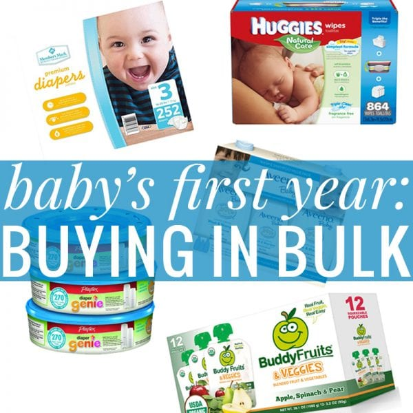 Baby's First Year: Buying in Bulk