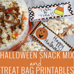 Halloween Snack Mix + Treat Bag Printables