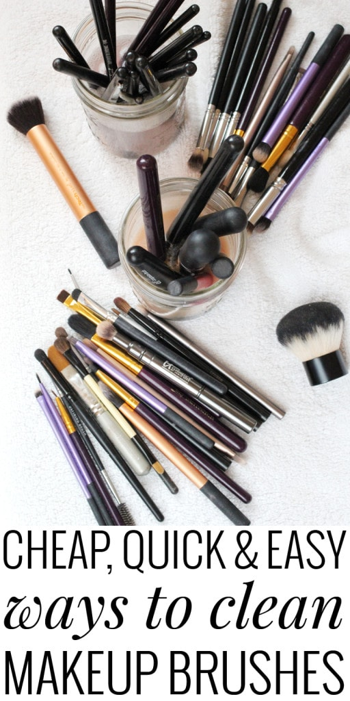 Confused on how to clean makeup brushes? Use items around the house! Save time and money!
