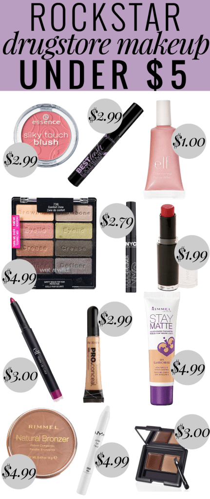 Popular Houston Beauty Blogger Meg O on the Go shares Rockstar Drugstore Makeup Under $5 - this list has everything for a full face of cheap, but amazing makeup!