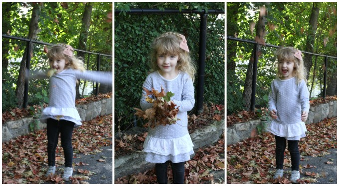 Kennedy throwing leaves