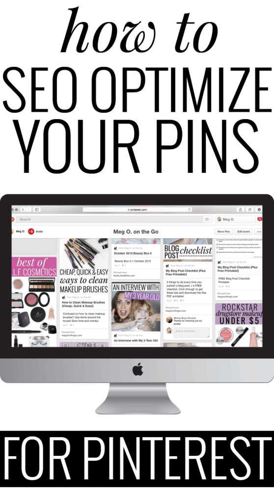 SEO for Pinterest - Learn how to optimize your pins for Pinterest so they can be shown in searches! Utilize Pinterest's search engine function and be seen!