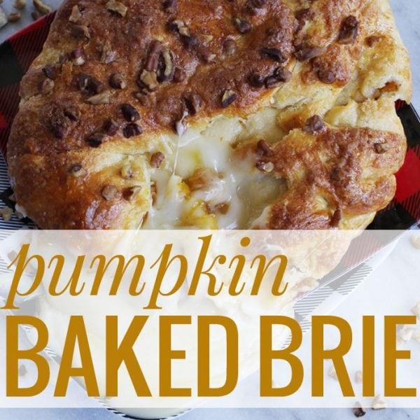 Pumpkin Baked Brie