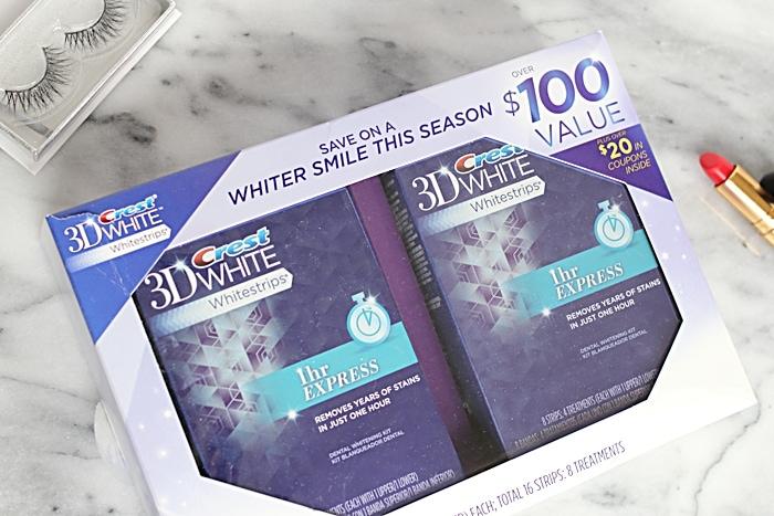 Crest 3D White Whitestrips 1-Hour Express Teeth Whitening Kit