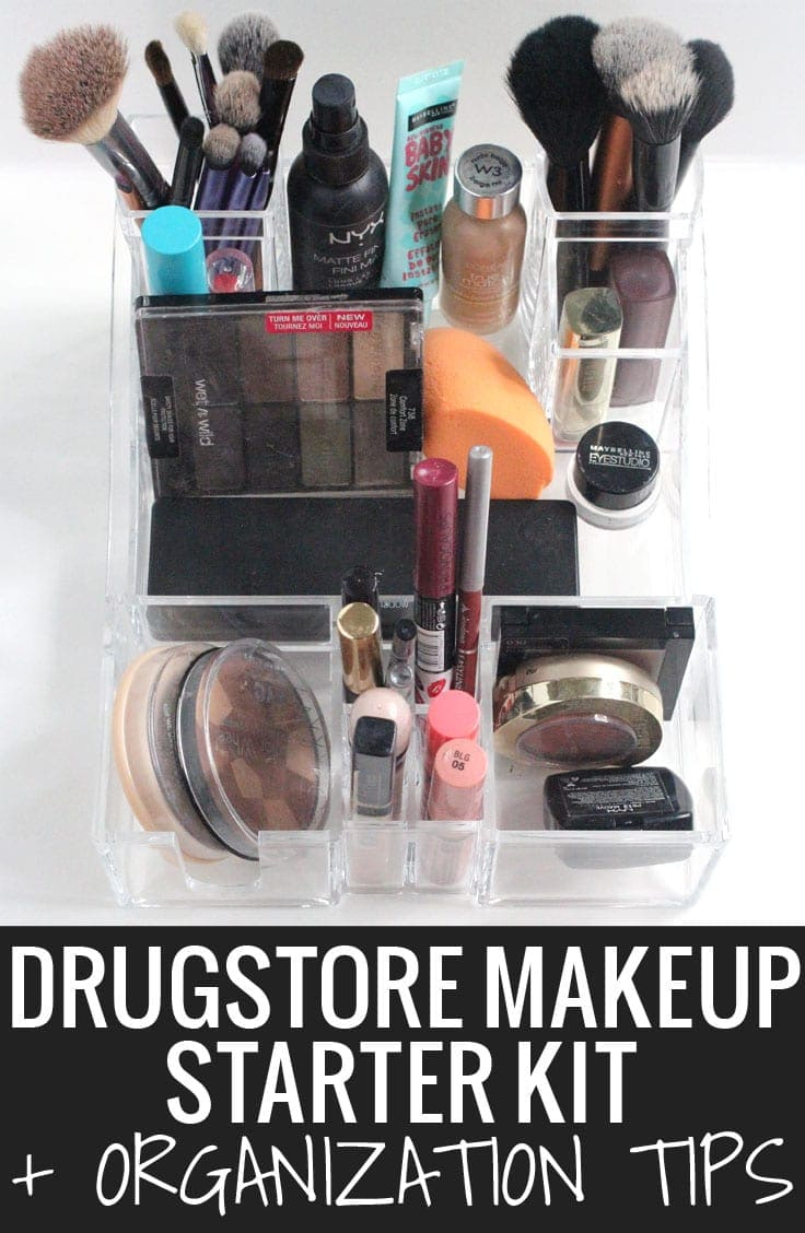 Popular Houston Beauty Blogger Meg O on the Go shares awesome drugstore makeup starter kit recommendations and how to store it all with Caboodles!