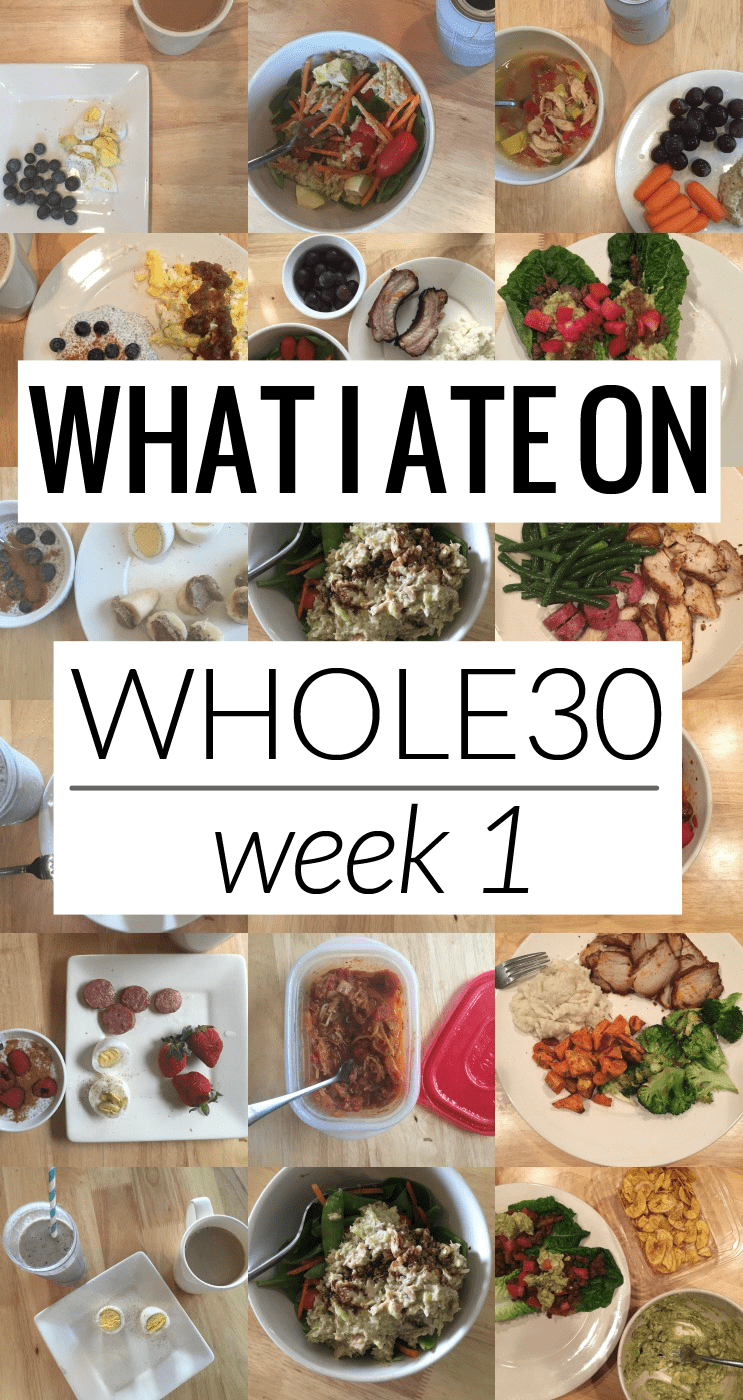 Popular Houston Beauty Blogger Meg O on the Go shares everything she ate on the first week of Whole30 and some thoughts so far!