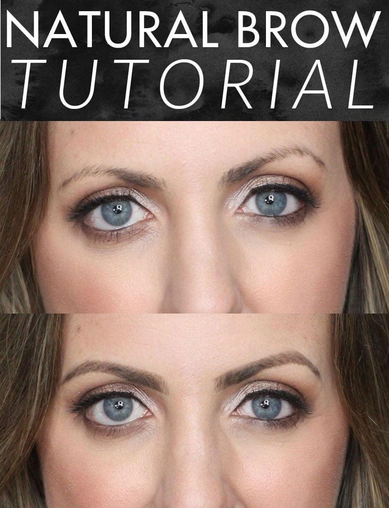 Natural Eyebrow Tutorial - easy and only takes a few minutes!