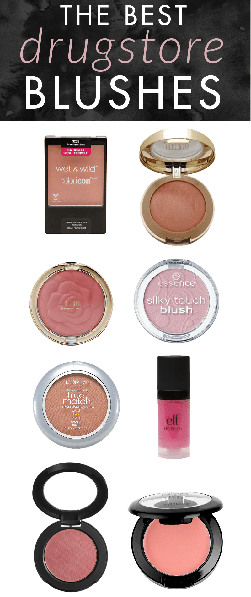 The Best Drugstore Blushes by popular beauty blogger Meg O. on the Go