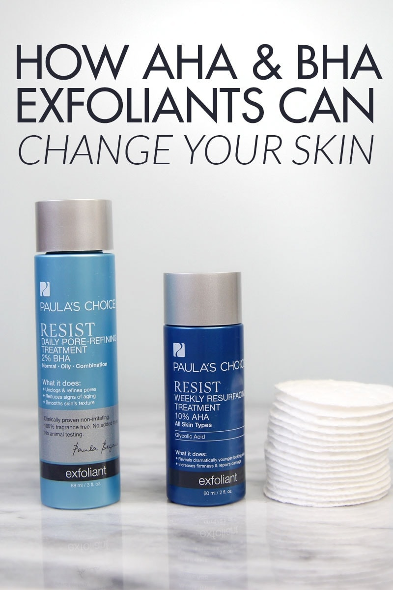 How AHA and BHA exfoliants can change your skin - they are amazing for anti aging and anti blemish!