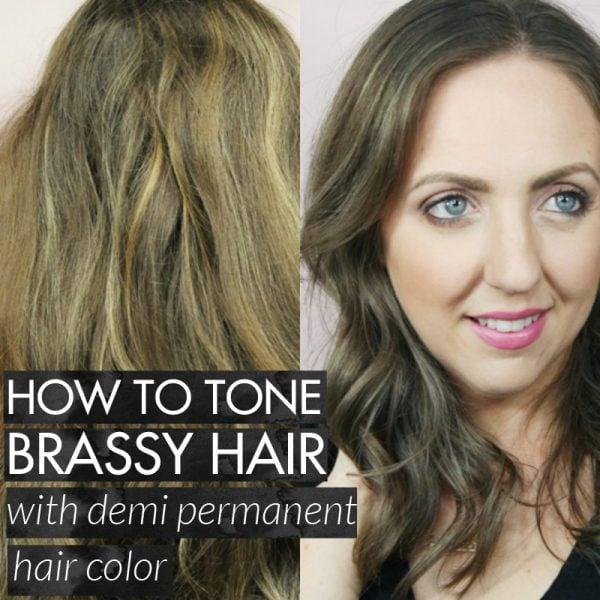 Best Toner For Brassy Hair: Demi Permanent Hair Color From Sallys
