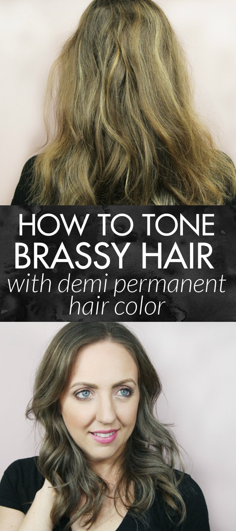 Come see how popular Houston Beauty Blogger Meg O on the Go uses the best toner for brassy hair with demi-permanent hair color. I do this with products from Sally Beauty Supply and in only 15 minutes!