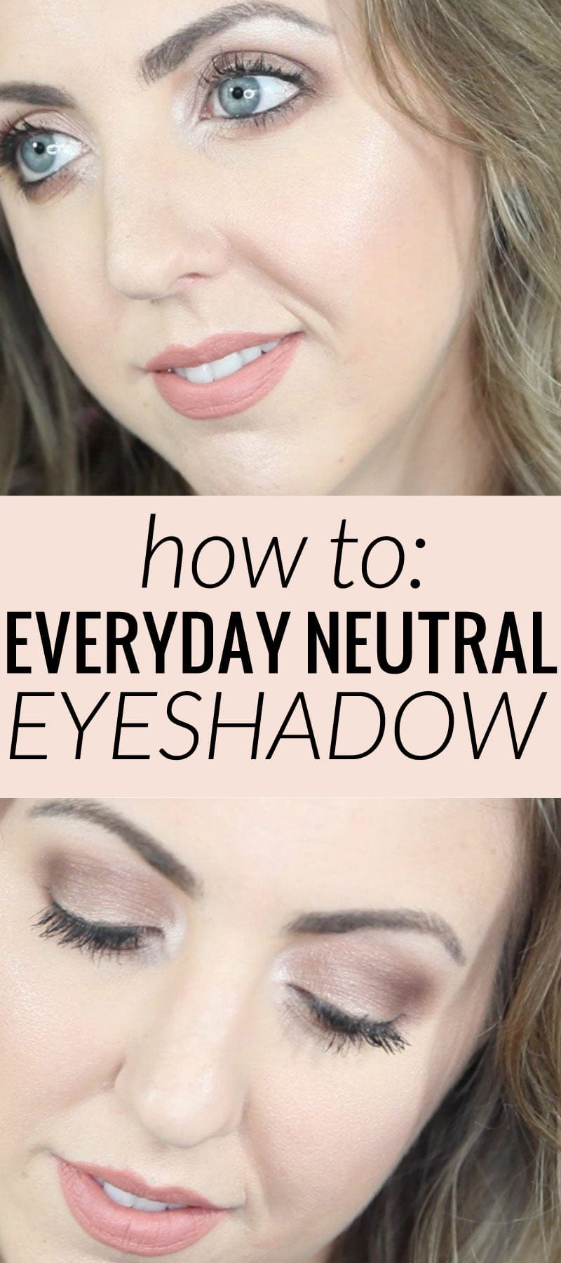A simple and fresh everyday neutral eyeshadow look, perfect for work or school. Learn how to get this look!
