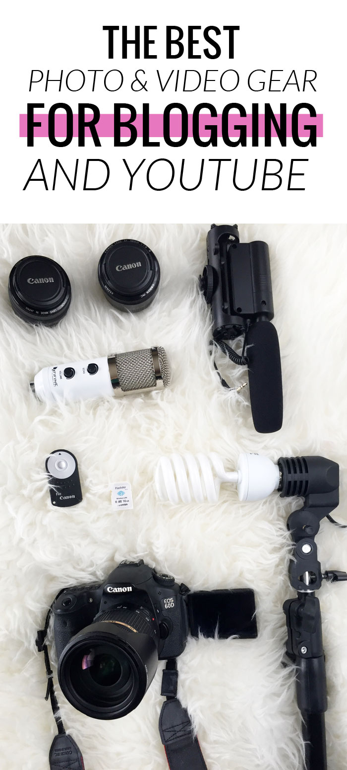 Popular Houston Beauty Blogger Meg O On The Go shares a pretty exhaustive list of all the gear she uses and loves for blogging! Includes camera, lenses, lighting, and even photo backgrounds.