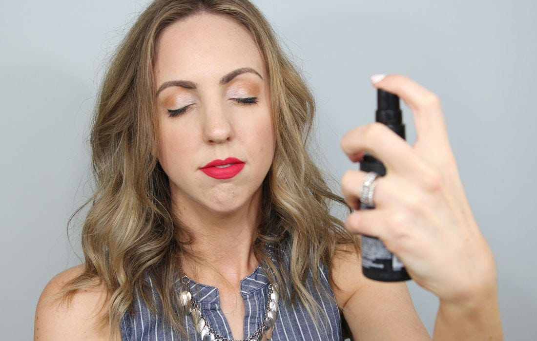 Using a setting spray will keep your makeup locked and loaded