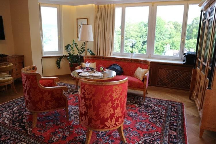 our suite at the Hotel Schloss Monchstein in Salzburg, Austria
