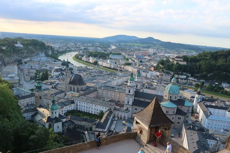 Salzburg, Austria at sunset