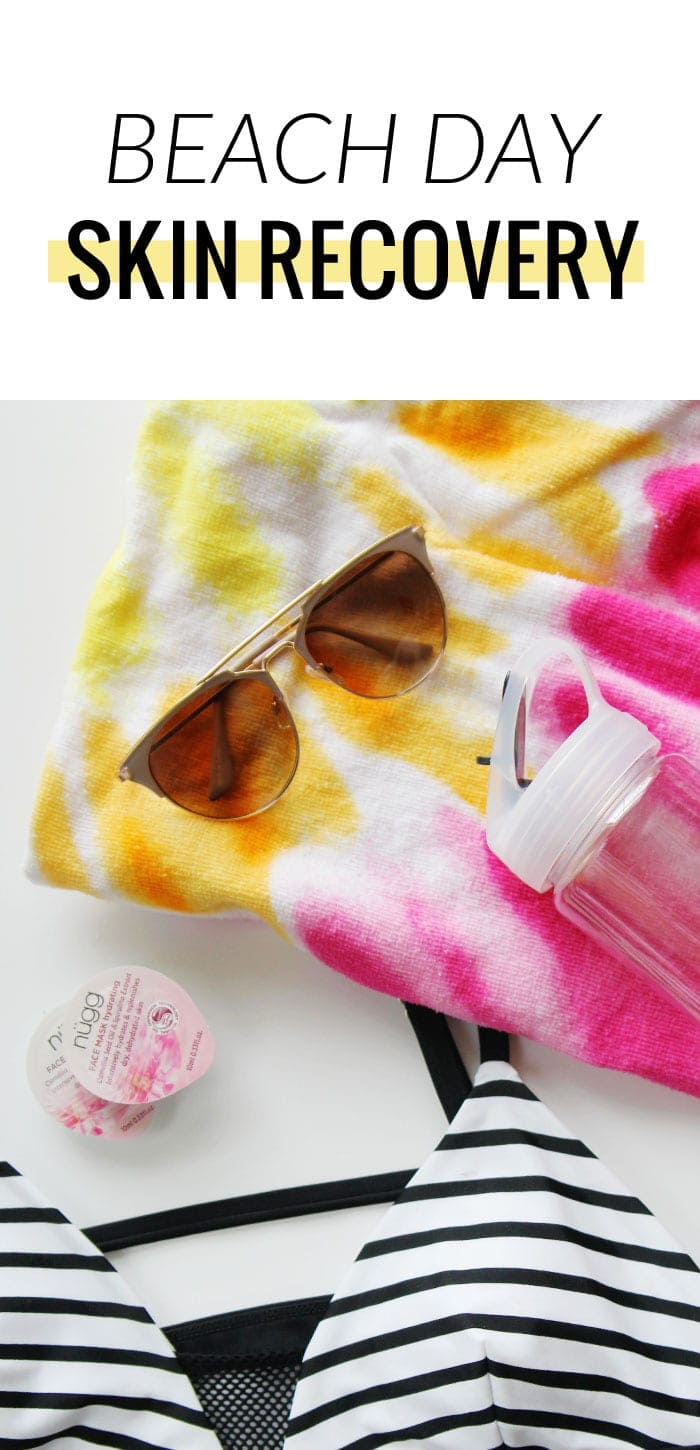 nugg Beauty hydrating masks are the perfect companion for your beach or travel bag!