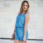The Mom Chambray Romper