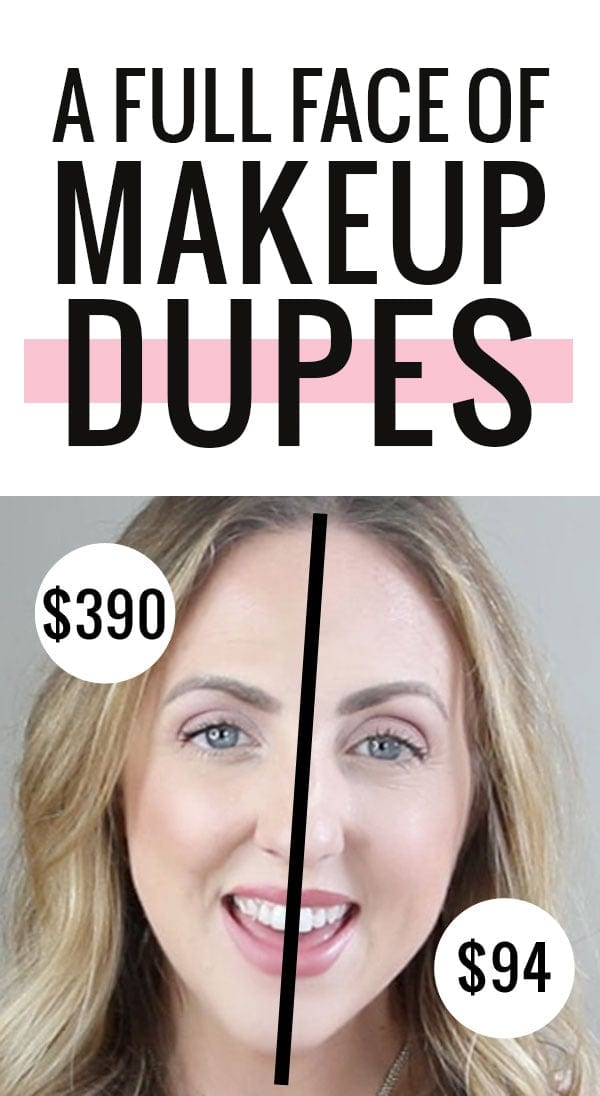 A face full of makeup dupes - can you believe the difference in price for the same look?