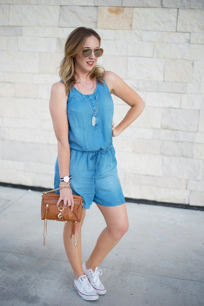 romper with converse shoes