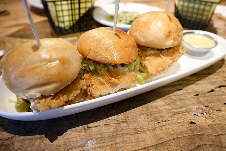 R Bar & Grill Fried Chicken Sliders