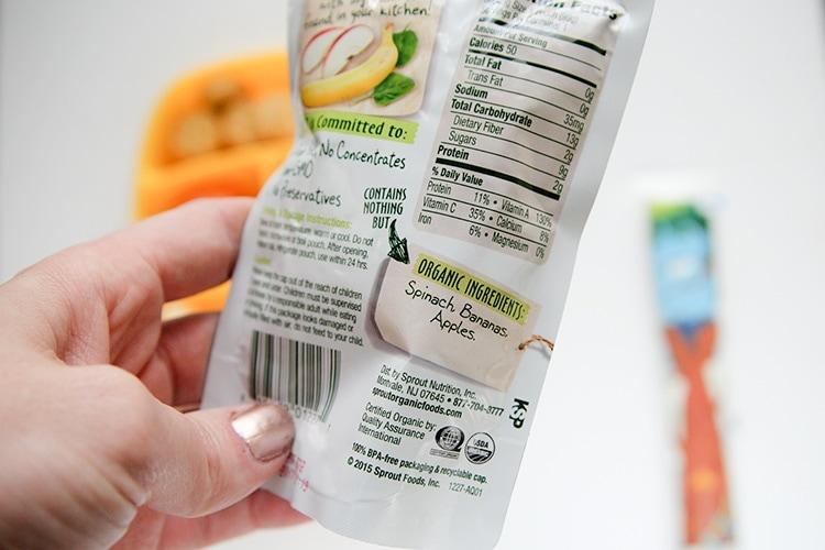 Sprout Organic ingredients in their pouches are everything you find in your kitchen!