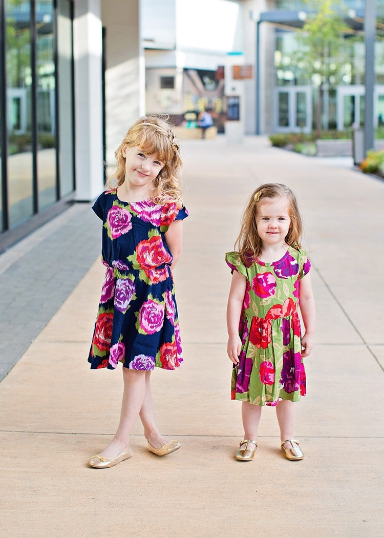 fall floral dresses - so cute on these little girls!