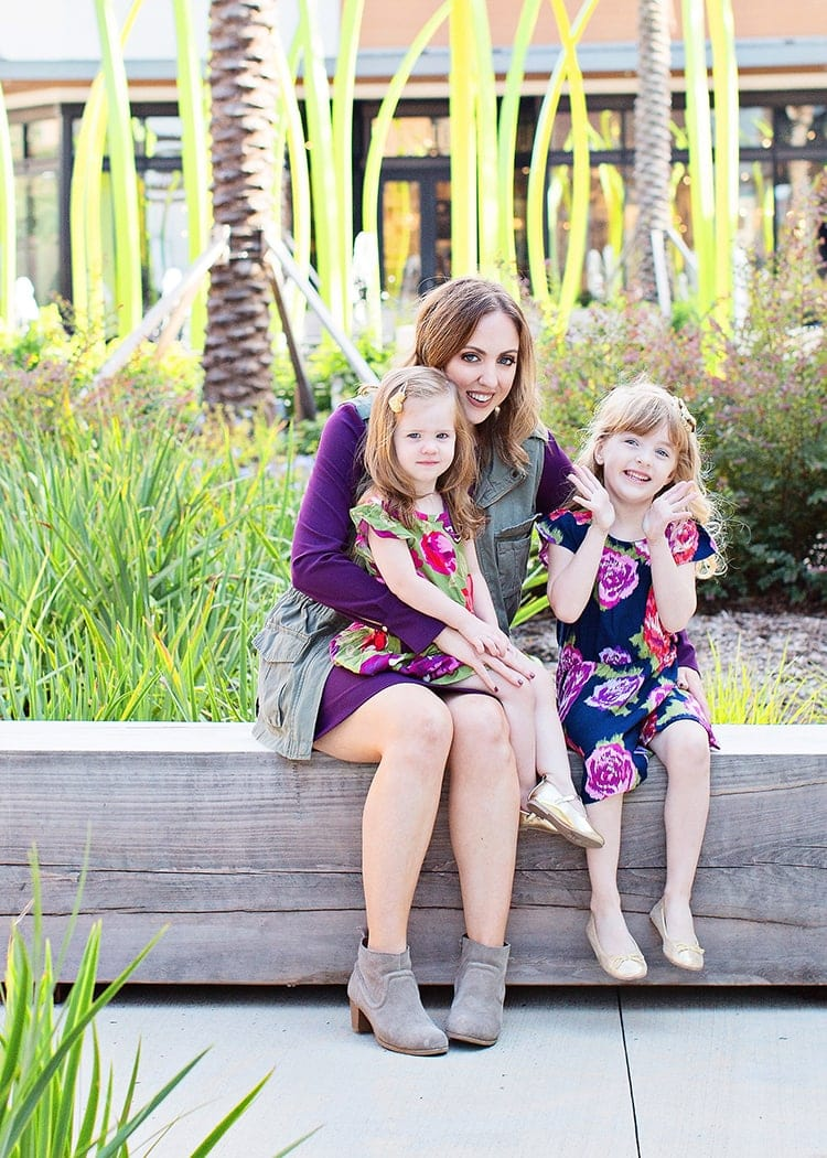 Mother daughter fall outfit inspiration - fall floral dresses for the girls