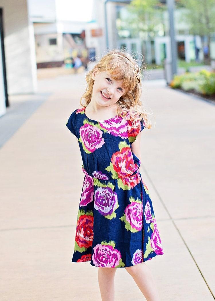 fall floral dress for preschooler