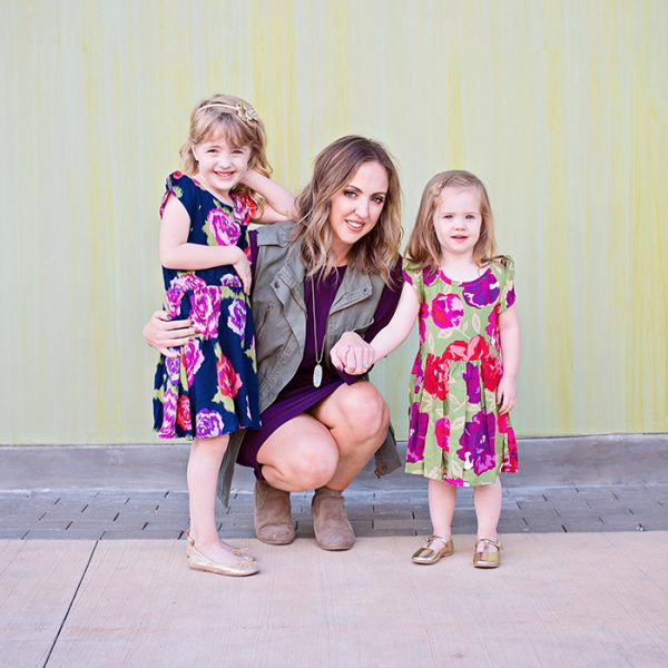 Mama + Mini Style: Fall Floral and Jewel Tones