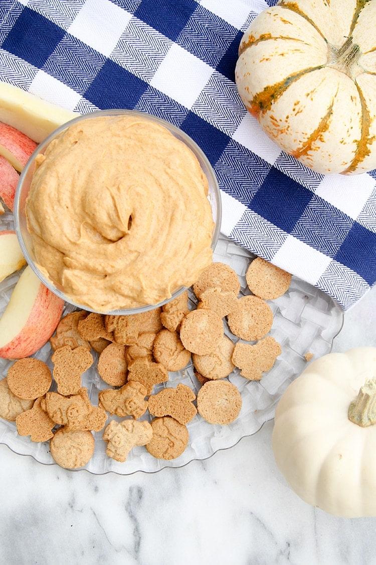 Pumpkin cheesecake dip - so easy and delicious!