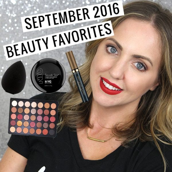 September 2016 Beauty Favorites