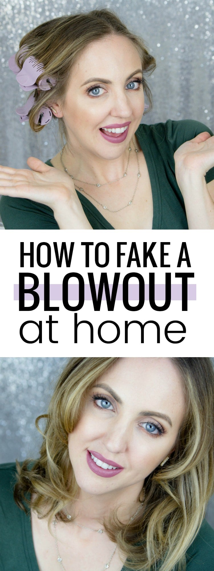 Come see how to fake a blowout at home! These bouncy curls are gorgeous and it can be done in no time flat!