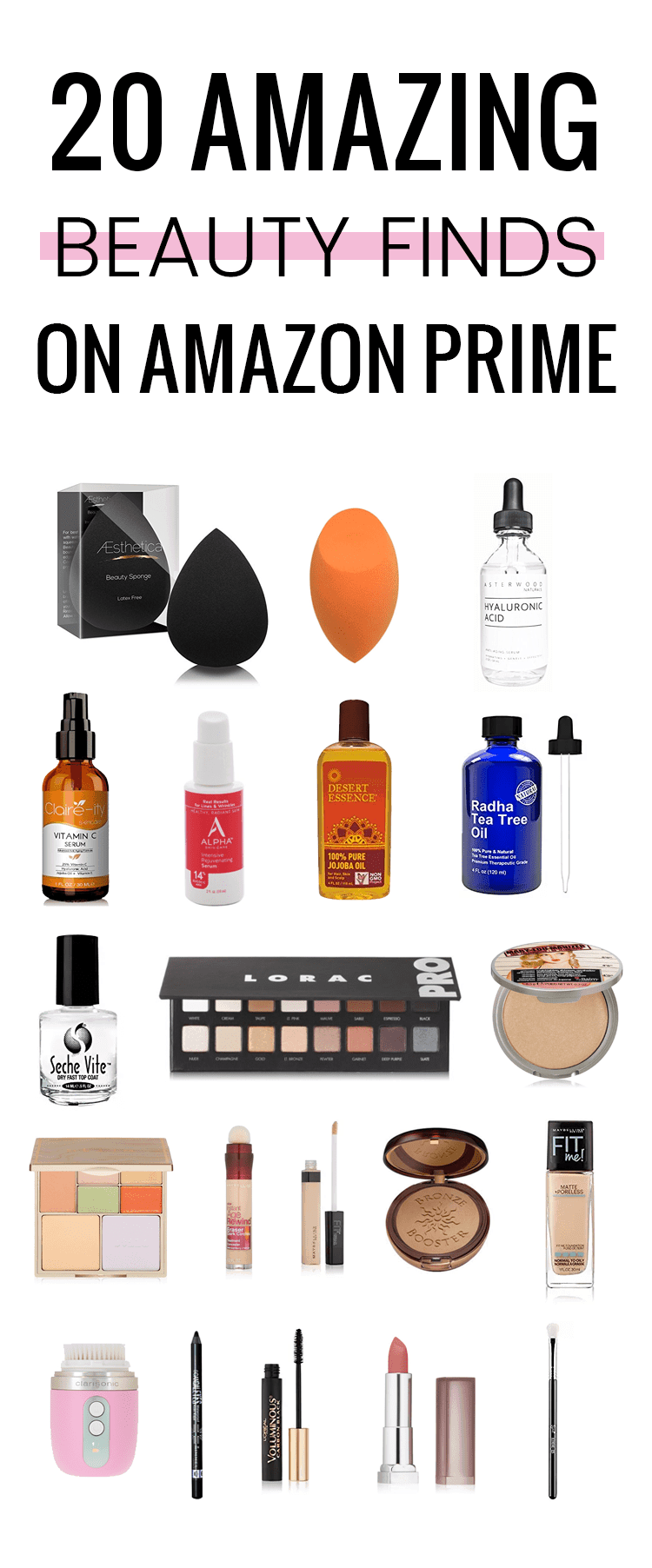 Houston Beauty Blogger Meg O on the Go shares 20 of the best beauty finds on Amazon Prime! These are priced right and who doesn't love free 2-day shipping?